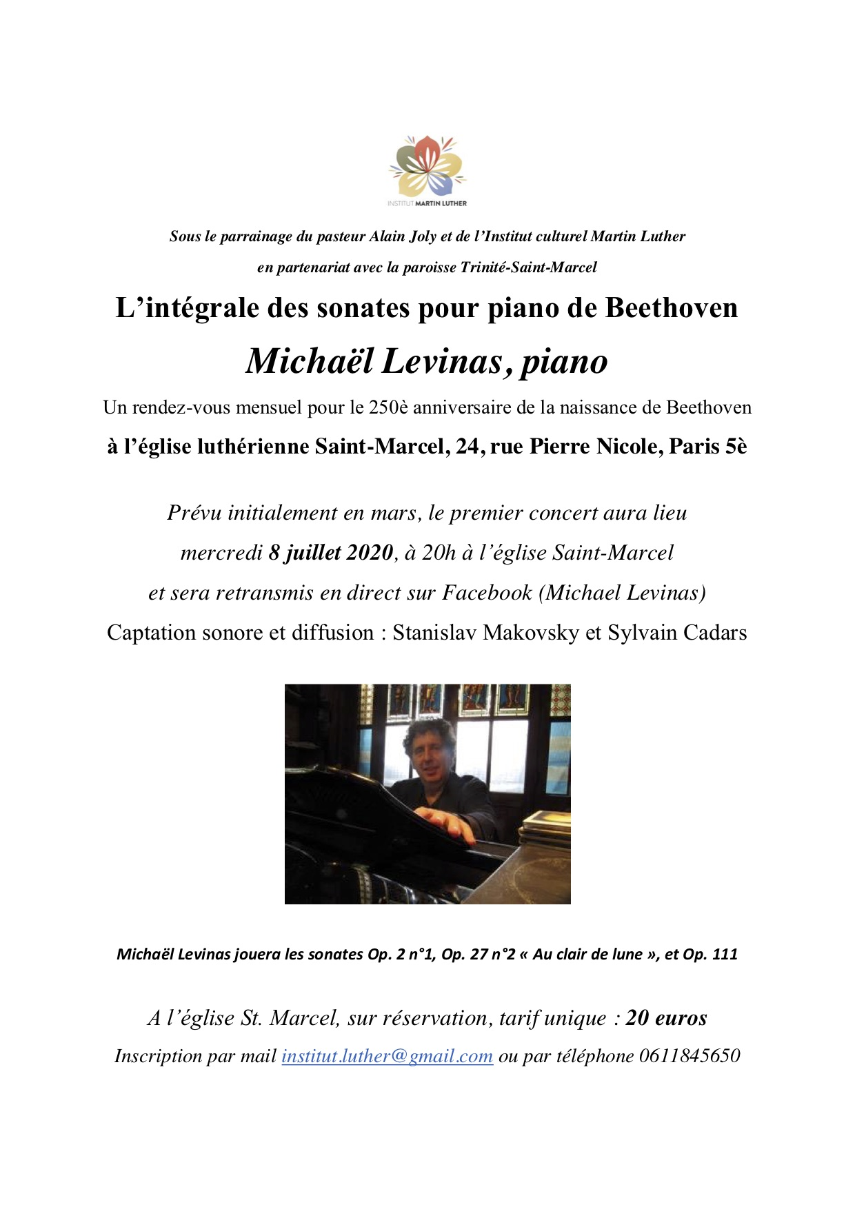 Beethoven Levinas 8 juillet 2020