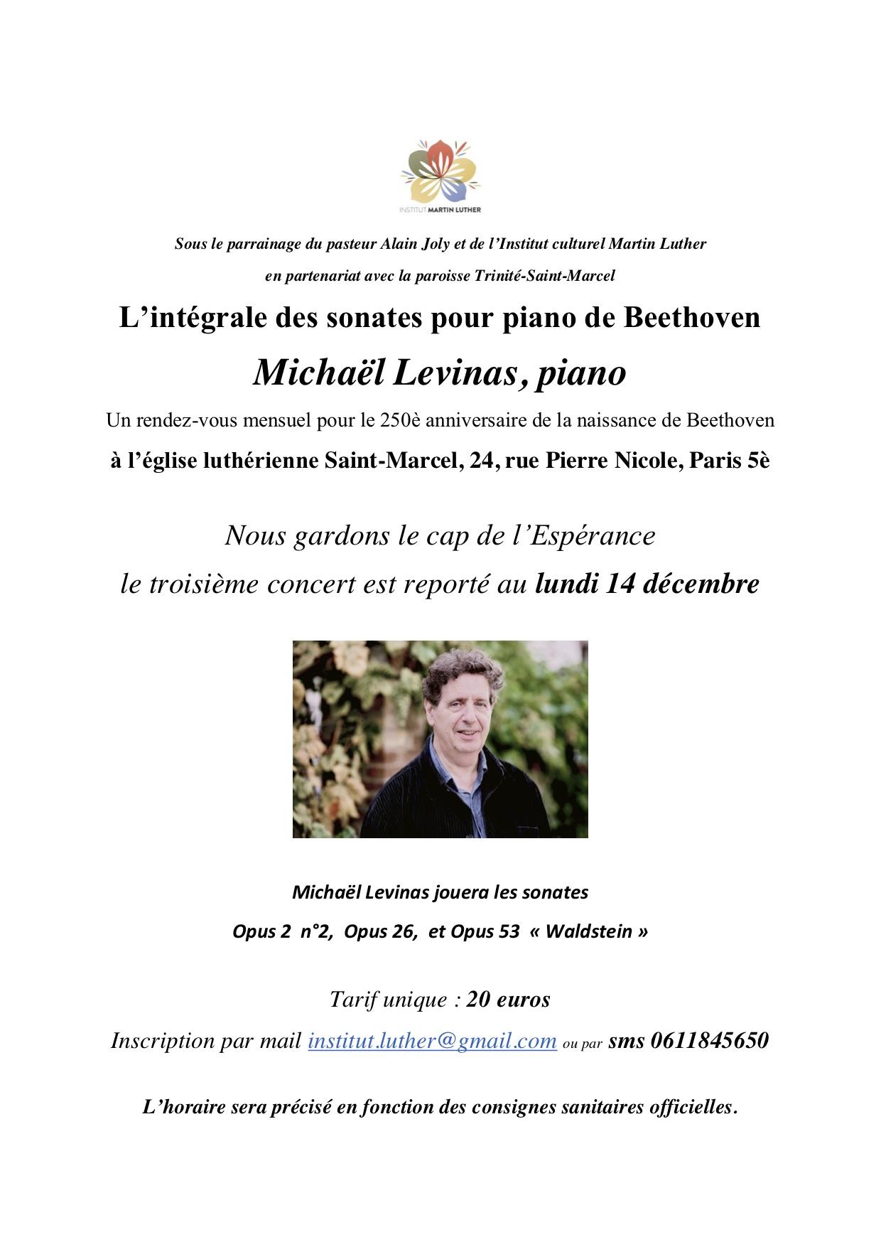 Beethoven - Levinas 14 décembre 2020