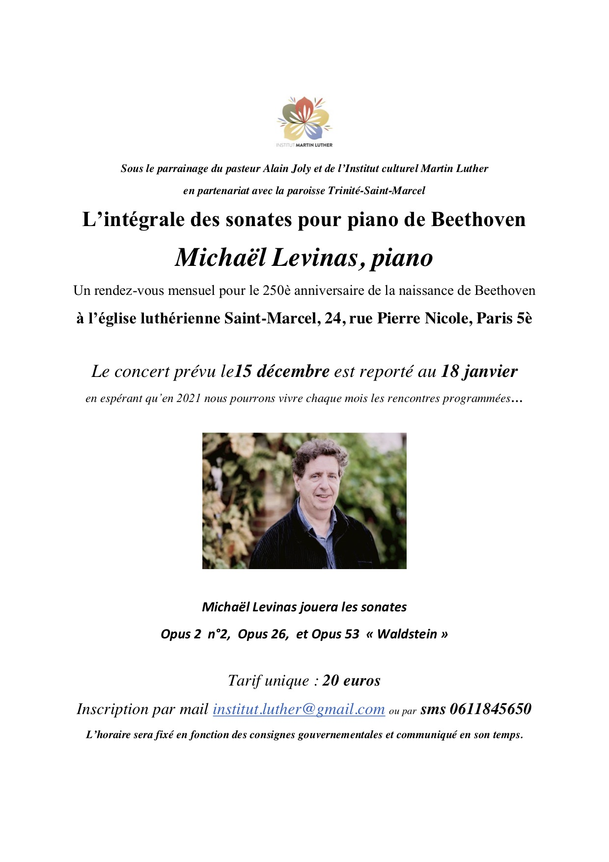 Beethoven - Levinas 18 janvier 2021
